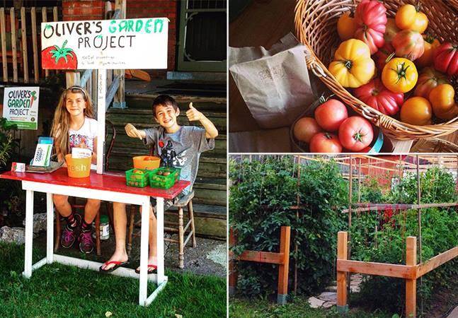 O menino de 10 anos que planta orgânicos no seu quintal para ajudar crianças em situação vulnerável