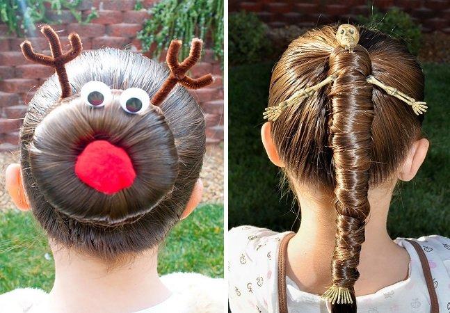 Os penteados infantis mais malucos  e inovadores de todos os tempos