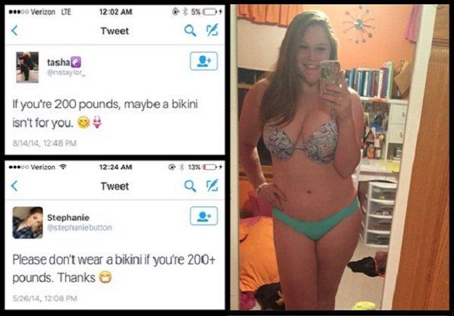 Ela decidiu combater comentários  gordofóbicos com selfies poderosas