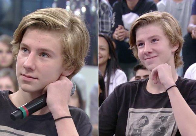 Veja como o filho de um casal  homossexual 'lacrou' ao combater o  preconceito no último Altas Horas