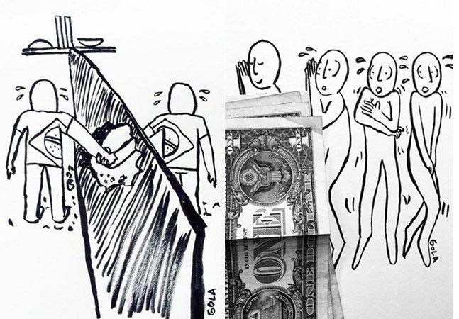 Ilustrador brasileiro usa cartoons para retratar o seu dia a dia e lançar olhar crítico sobre o Brasil