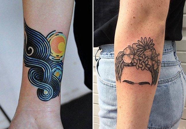 Esta série de tattoos inspiradas em obras de grandes artistas vai fazer sua cabeça