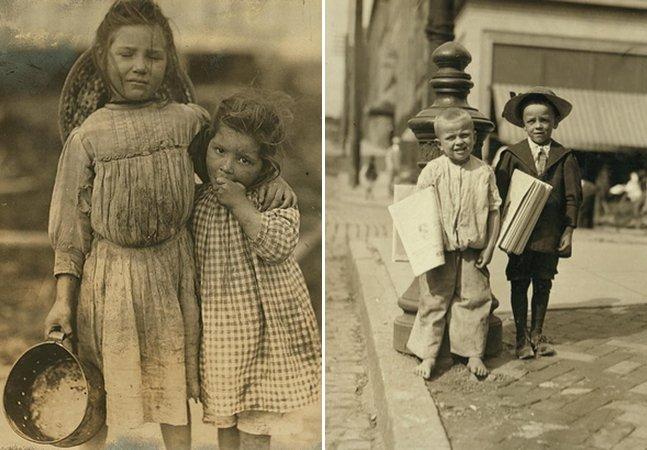 Série de fotos do início do século 20 mostra a dura realidade do trabalho infantil