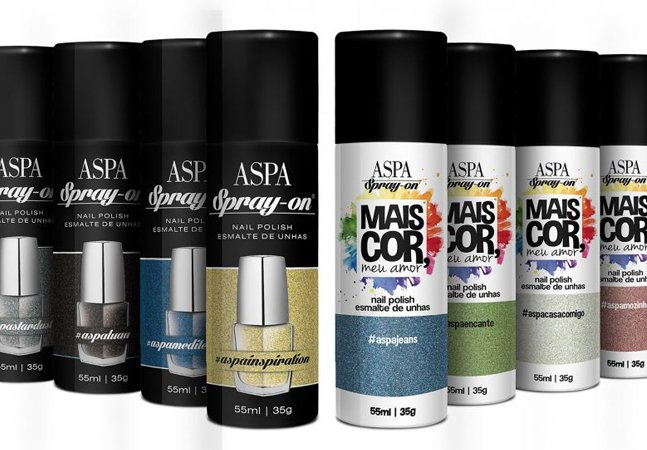 Esmalte em spray chega  finalmente ao Brasil