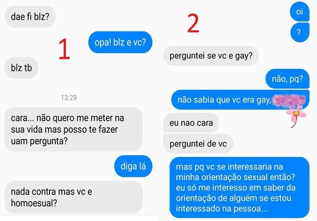Esse chat ensina como  conversar com um homofóbico