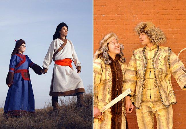 Casal larga emprego para criar álbum de casamento incrível retratando mais de 50 tradições de minorias étnicas