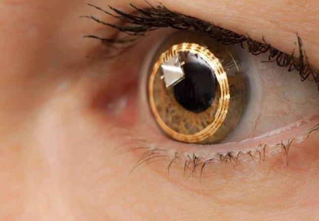 Marca lança projeto para lentes de contato inteligentes com câmera acoplada