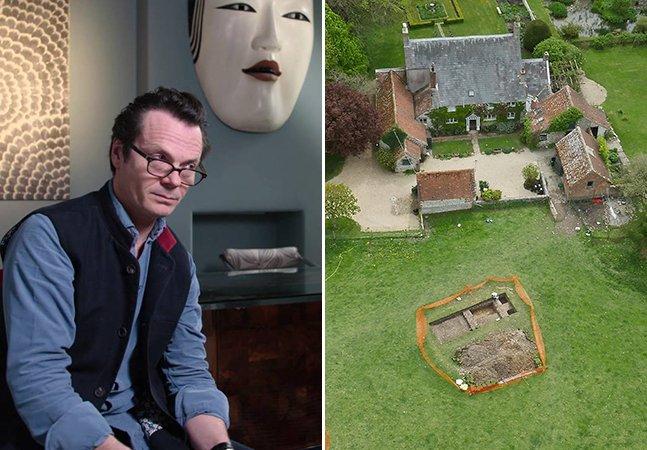 Homem descobre mansão romana com 1,5 mil anos enterrada no seu jardim