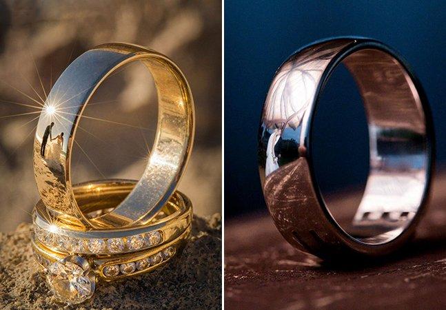 Fotógrafo encontra forma criativa de registrar casamentos: através do reflexo nas alianças