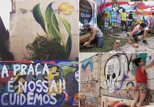 O terreno abandonado no centro de Curitiba que virou praça pelas mãos da própria comunidade