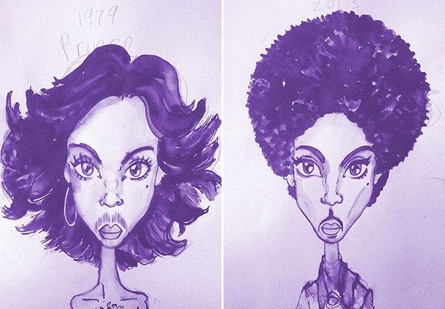 Série de ilustrações mostra as transformações (e o legado!) de Prince através de suas cabeleiras
