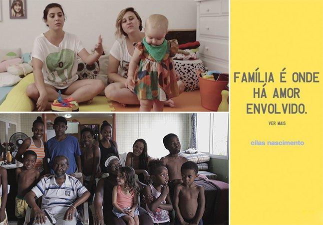 Campanha emocionante desafia brasileiros a criarem nova definição para a palavra 'família'