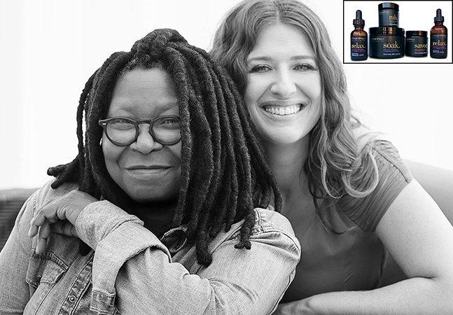 Whoopi Goldberg lança linha de produtos pra cólica menstrual à base de maconha