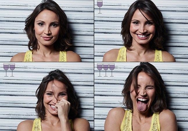 Fotógrafo brasileiro retrata as mudanças no rosto dos amigos após 3 taças de vinho