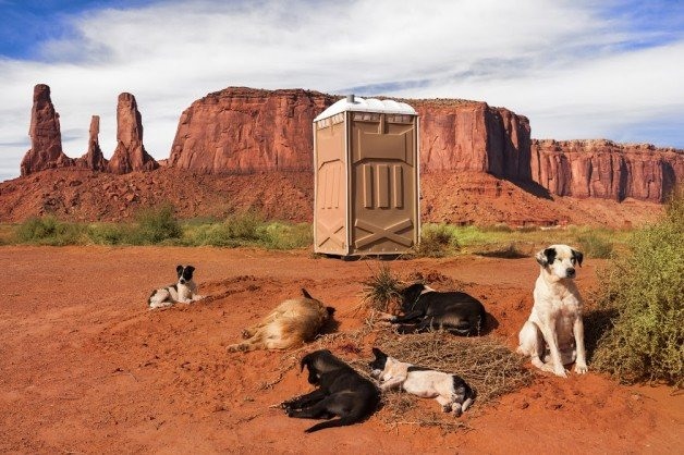 Portable Toilet in Monument Valley, Utah