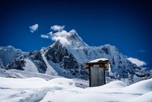500px Photo ID: 117508299 - In the background, we could see another different view of Ama Dablam.This photo was taken from Chukhung (4730m). It's a lodge village serving trekkers and climbers in the Khumbu Region of Nepal in the Himalayas south of Mount