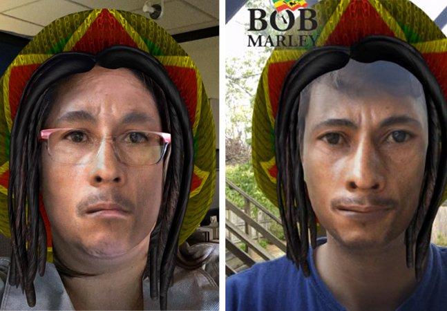 Snapchat lança filtro Bob Marley e é acusado de blackface