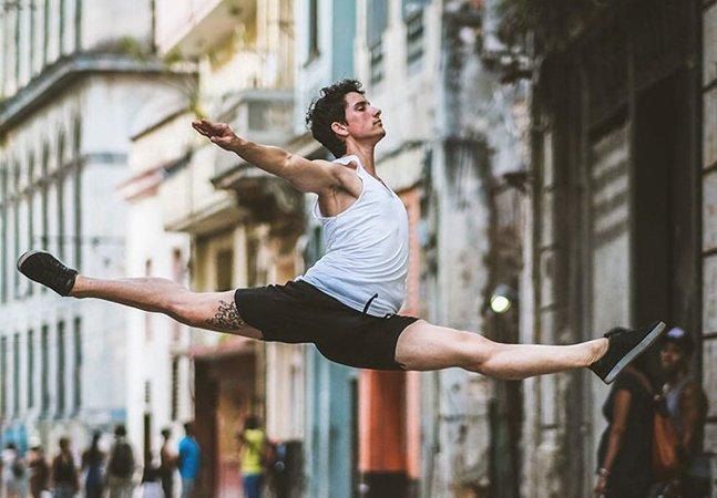 Série fotográfica de bailarinos  dançando nas ruas de Cuba  mistura força e delicadeza