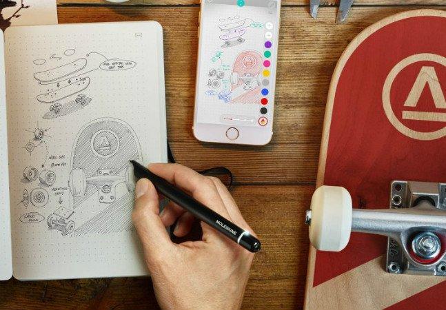 Moleskine lança kit que digitaliza seus esboços e anotações em tempo real