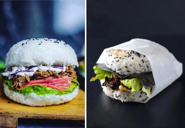 Uma alma iluminada resolveu unir sushi e hamburguer num só quitute