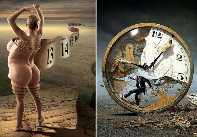 'Falha no sistema': ilustrações com mensagens subliminares questionam padrões de vida modernos