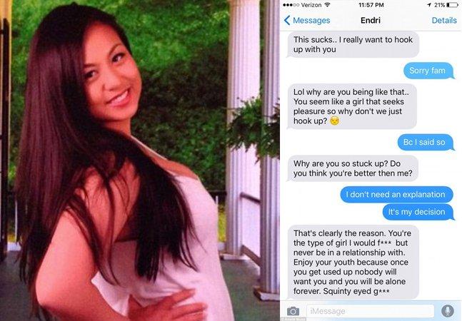 Mulher compartilha mensagens surreais que recebeu de um paquera do Tinder ao recusar sexo no primeiro encontro