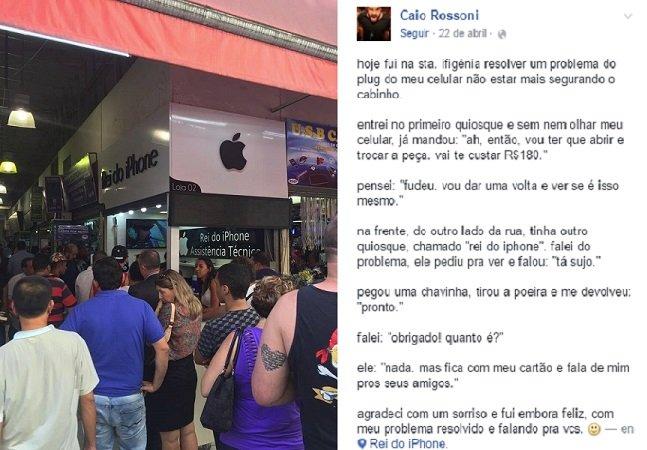 Honestidade vale a pena:  loja que consertou iPhone de  graça viralizou e agora lotou