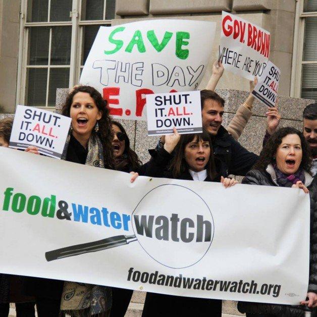 Ativistas da FWW protestando