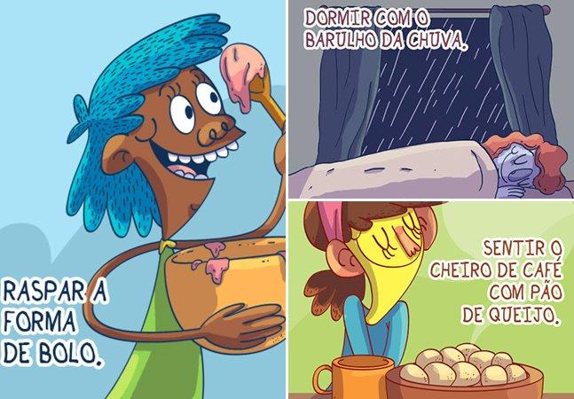 Artista curitibana cria ilustrações que retratam perfeitamente os pequenos prazeres da vida