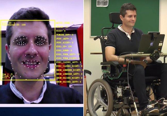 Brasileiros criam cadeira de rodas inovadora controlada por movimentos da face