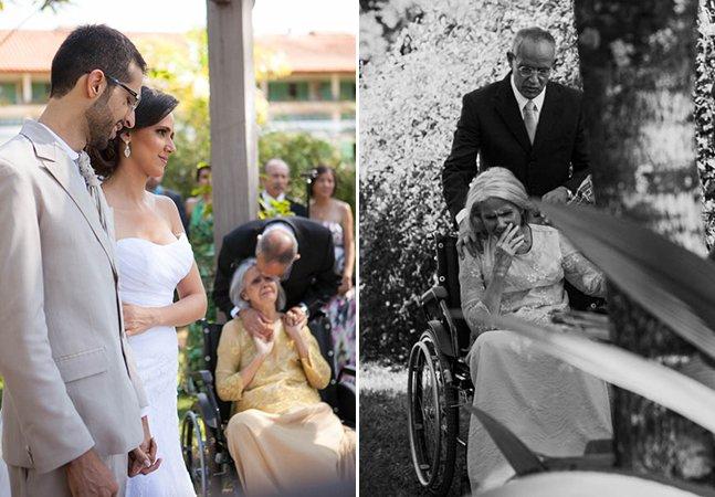 Noiva se casa em hospital no DF para que mãe com doença avançada possa participar da cerimônia