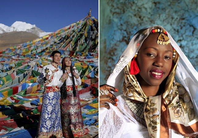 Uma viagem pelo mundo através das diferentes tradições de vestidos de noivas