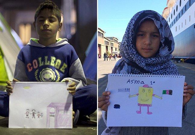 Brasileiro cria projeto que revela sentimentos de crianças refugiadas através de seus desenhos