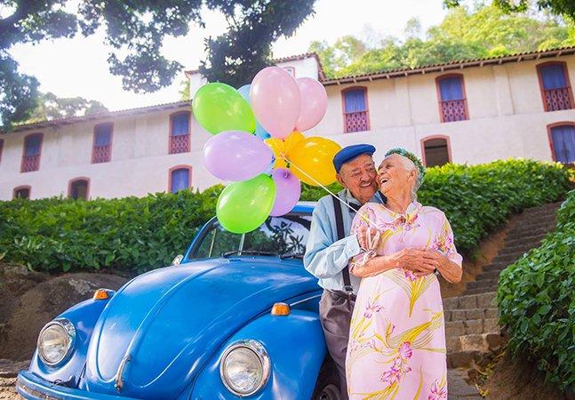 Casal brasileiro celebra 69 anos de amor com ensaio maravilhoso