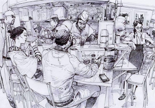 Nudez, violência e rock  and roll nas ilustrações do sul-coreano Kim Jung Gi