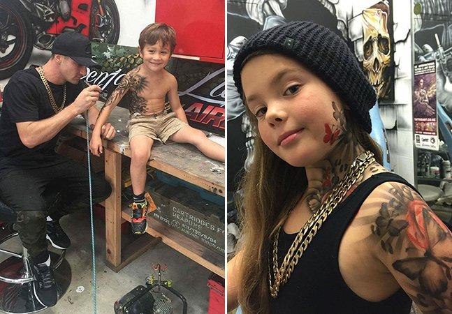 Artista cria tatuagens estilosas em crianças doentes para tornar a vida no hospital mais alegre