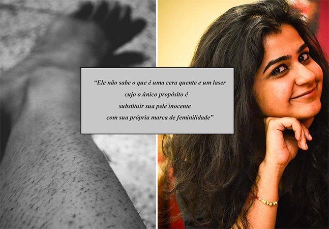 Jovem escreve poema viral sobre o que os homens não sabem acerca de beleza e pelos corporais