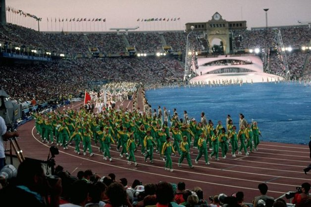 A delegação sul-africana, enfim de volta aos jogos