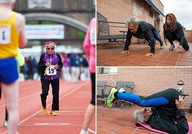 A senhora de 100 anos que deu uma lição de vida ao bater recorde mundial de corrida