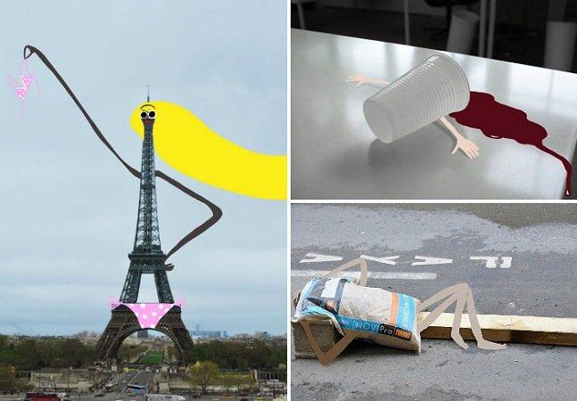 Artista francesa transforma objetos da rua em divertidos personagens