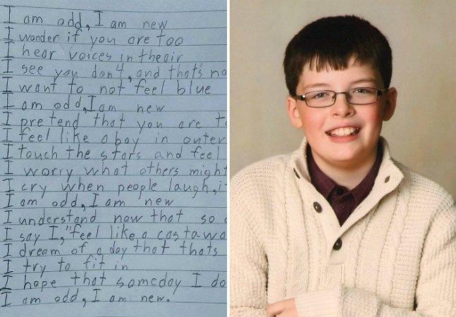 Garoto de 10 anos escreve poema poderoso sobre como é viver com Síndrome de Asperger
