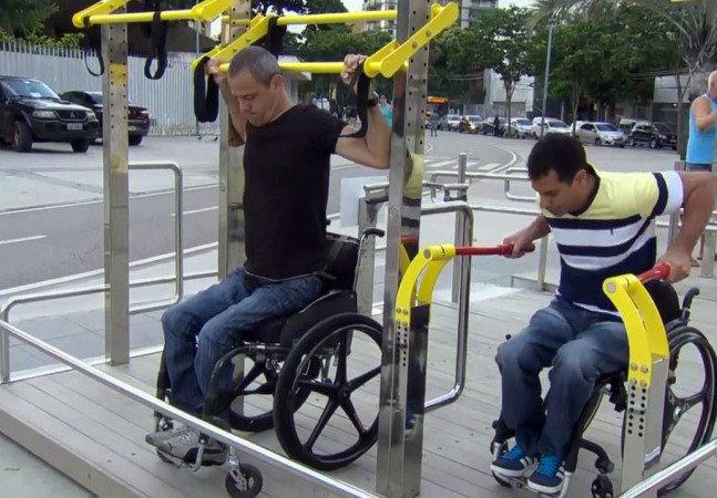 Rio inaugura sua primeira academia ao ar livre adaptada para cadeirantes