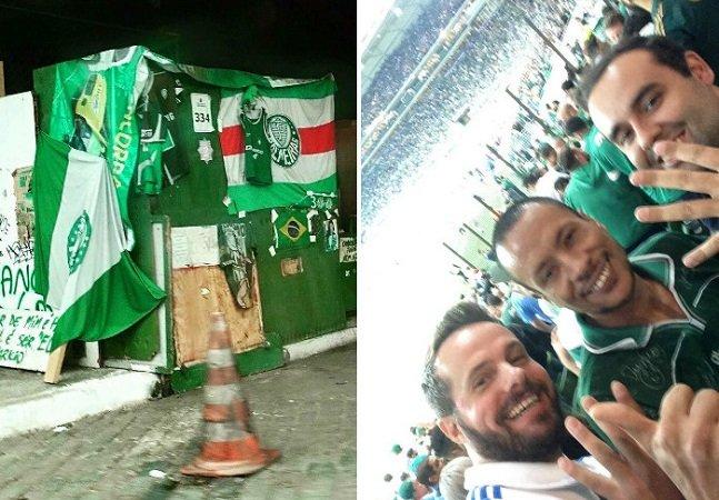 Torcedor realiza sonho de morador de rua e o leva para ver jogo do Palmeiras no estádio