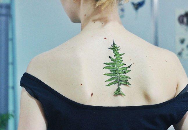 Essas tatuagens de folha são feitas a partir das próprias