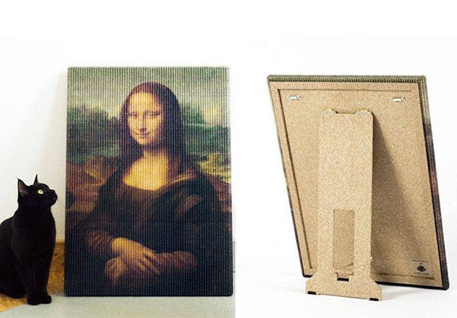 Este artista cansou de ver seu gato estragar quadros; então recriou quadros famosos próprios pra arranhar