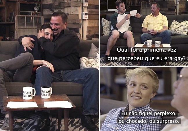 Pais contam em vídeo qual a reação e como souberam que seus filhos eram gays