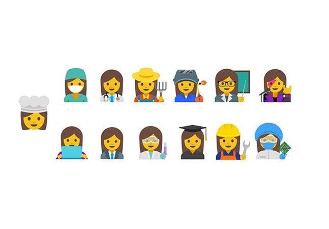 Google quer criar  emojis feministas