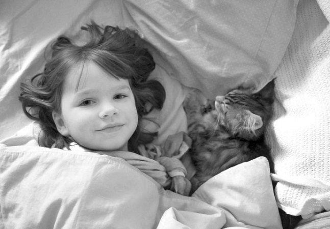 Gato ensina garotinha autista a se comunicar e mostrar afeto por seus pais