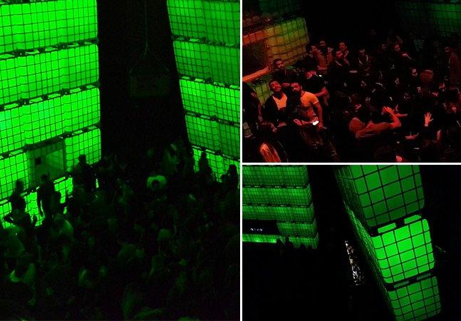 Balada pop-up montada com  cubos iluminados chega a São Paulo  para temporada de festas