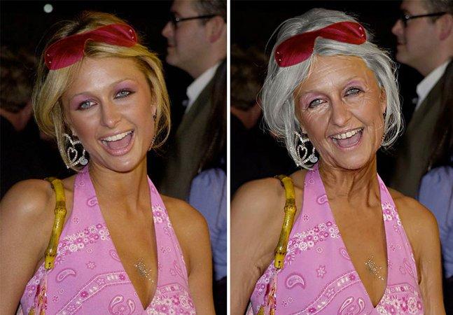 Artista usa photoshop  para prever como artistas ficarão quando envelhecerem